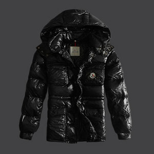 DG2478 Moncler Branson Menn dunjakker Single- breasted Svart [632f]