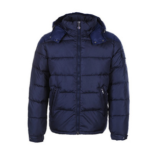 DG2662 Moncler Chevalier Mens Hooded Down Puffer Jacket Blå [063f]