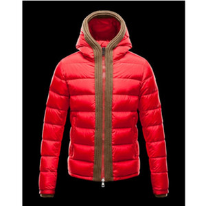 DG2775 Mens Moncler Hooded dunjakker Canut Red [63a4]
